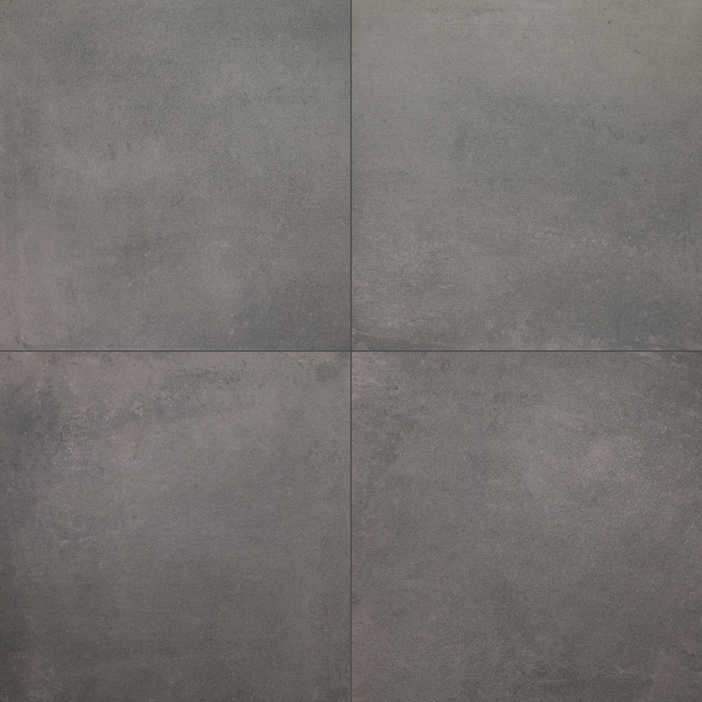 Urban Cement Grey Stone Effect Ceramic Wall Floor Tile: Urban Concrete Night Matt 600x600