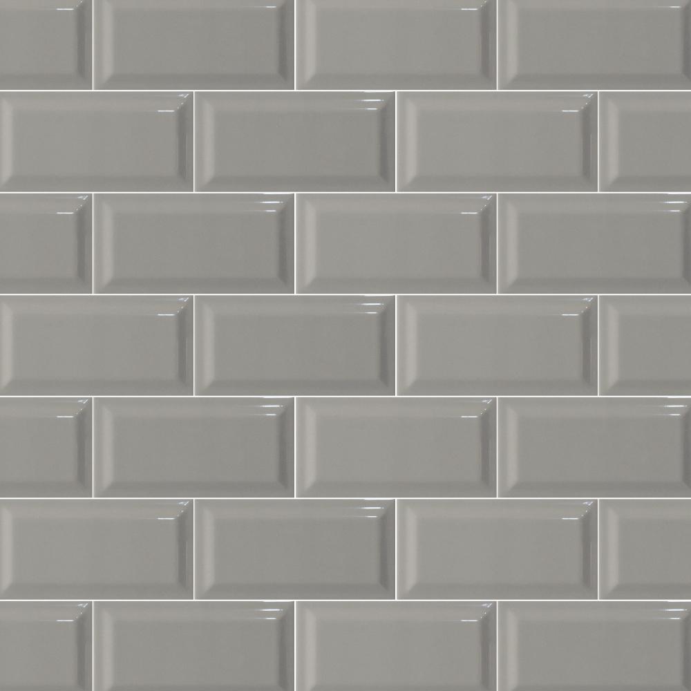 Metro mid grey Bevel gloss 75X150 - Italcotto